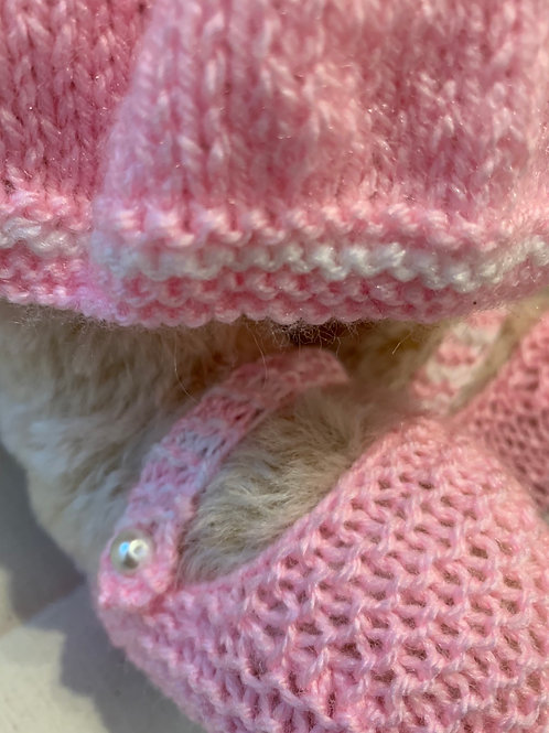 Bear Couture - Pink knitted summer dress and booties