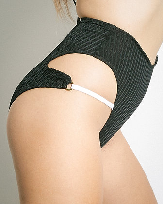 TRY high waisted high leg bikini bottom