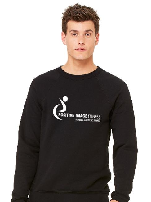 Unisex Crew Neck Black Sweatshirt