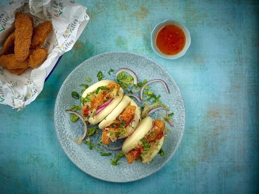 Sweet Chilli Chicken Bao Buns