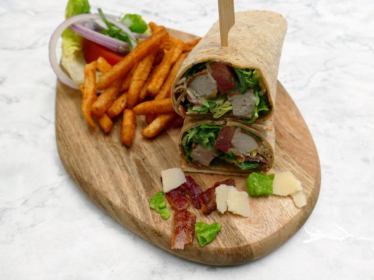 Gluten-free Chicken Caesar Salad Wrap