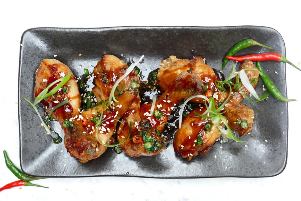 Teriyaki Glazed Roast Chicken Drumsticks