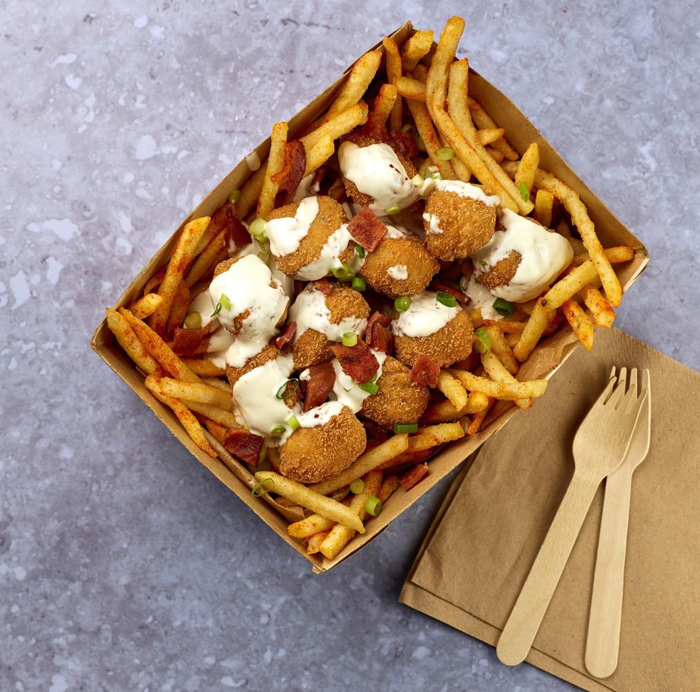 Gluten-Free Chicken Chunk Loaded Fries