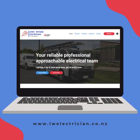 LW Electrician Snells Beach website