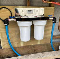 Dual water filters to help with poor water quality