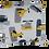 Thumbnail: DECORATIVE PILLOW SQUARE - VOYAGE IN BLUE