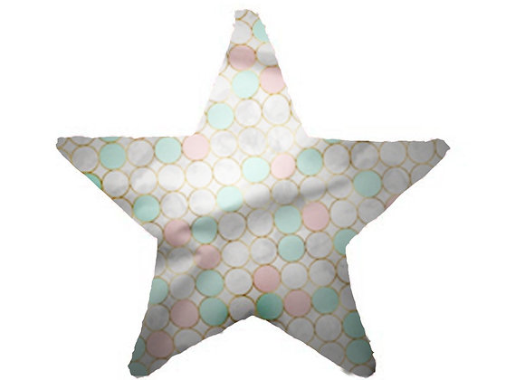 DECORATIVE PILLOW STAR  - PINK BALLOONS