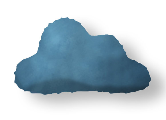 DECORATIVE PILLOW CLOUD - MINKY DARK BLUE
