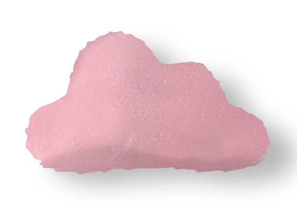 DECORATIVE PILLOW CLOUD  - MINKY PINK