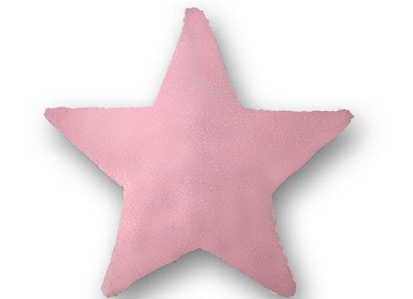 DECORATIVE PILLOW STAR - MINKY PINK