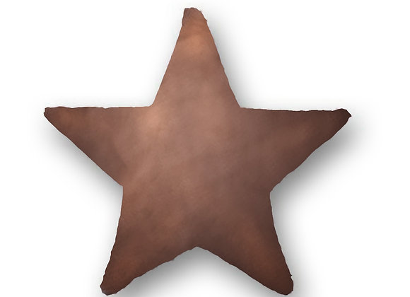 DECORATIVE PILLOW STAR  - MINKY BROWN