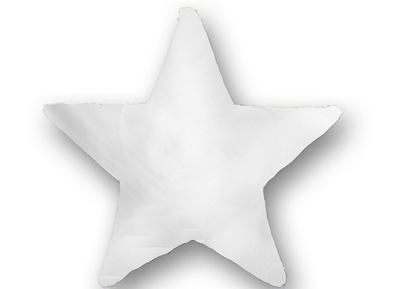 DECORATIVE PILLOW STAR - MINKY WHITE