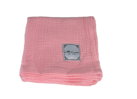 MUSLIN COVER SIZE S - SET OF TWO PINK/BROWN