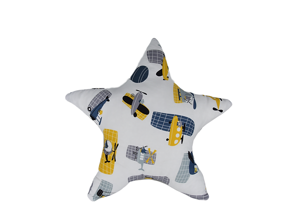 DECORATIVE PILLOW STAR - VOYAGE IN BLUE