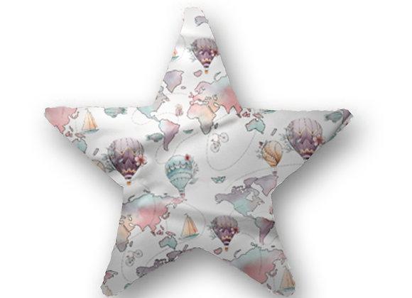 DECORATIVE PILLOW STAR - AROUND THE WORLD