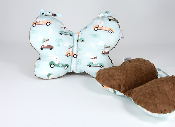 STROLLER PILLOW - RACE CARS