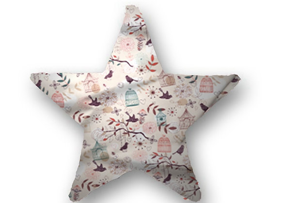 DECORATIVE PILLOW STAR  - BIRD ON A SWING