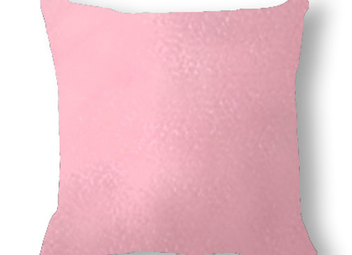 DECORATIVE PILLOW SQUARE  - MINKY PINK