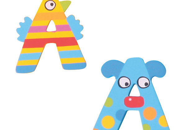 CRAZY ANIMALS LETTER A