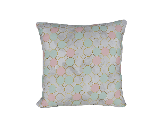 DECORATIVE PILLOW SQUARE - PINK BALLOONS