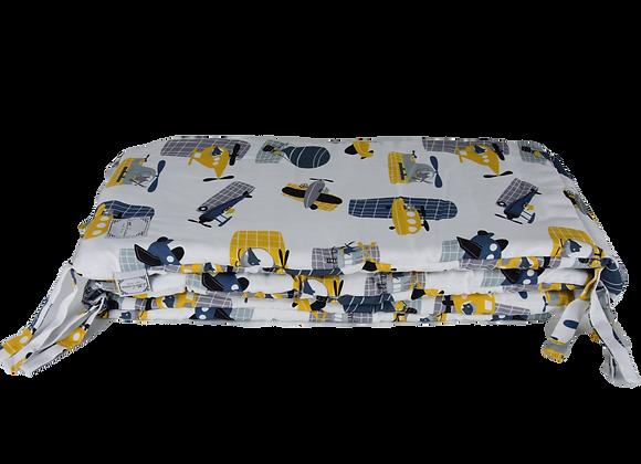 BED BUMPER - VOYAGE IN BLUE
