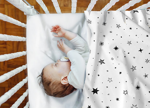 SET OF TWO SHEETS AND PILLOWCASE - STARS EVERYWHERE