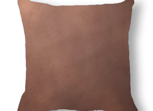 DECORATIVE PILLOW SQUARE  - MINKY BROWN