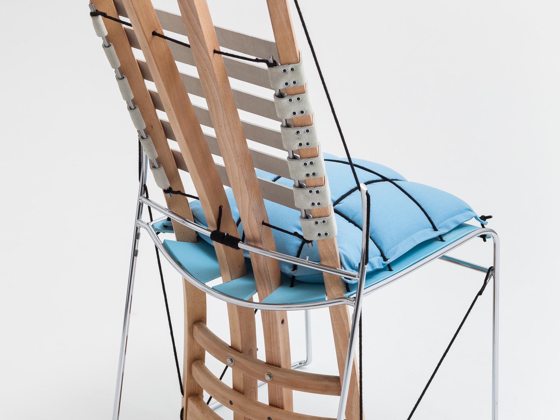 cadeira azul