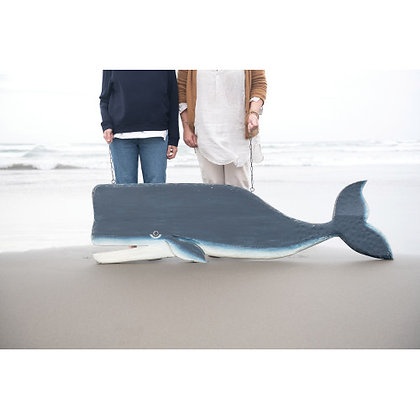 2-Sided Whale Wall Decor