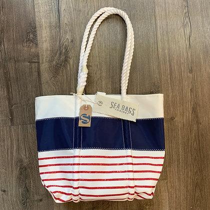 SeaBag Stripe Design Tote Red/White/Blue