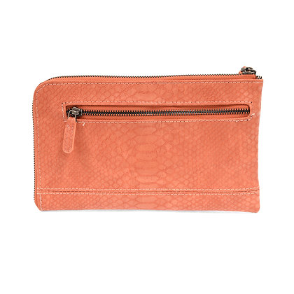 Joy Susan Python Zip Around Wristlet Clutch