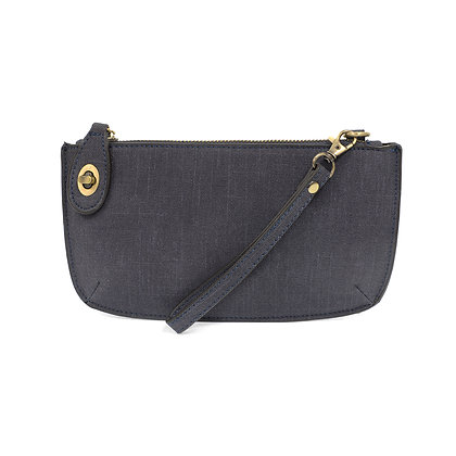 Joy Susan Faux Linen Crossbody Wristlet Clutch