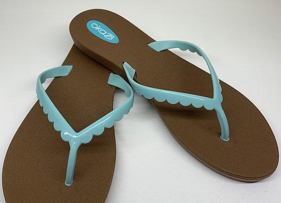 Oka-B Bristol Sandals Toffee/Sea Foam
