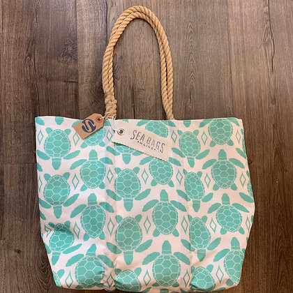 SeaBag Turtle Design Tote