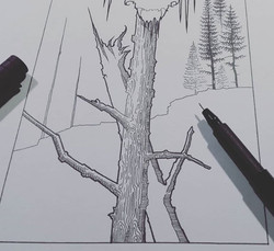 Creating the drawing for Anguish