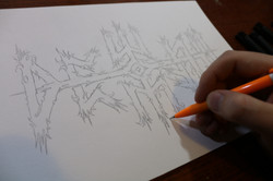 Creating the logo for Dewfall