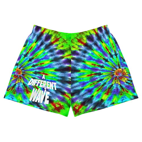 A Different Wave Tie Die Women's Athletic Shorts
