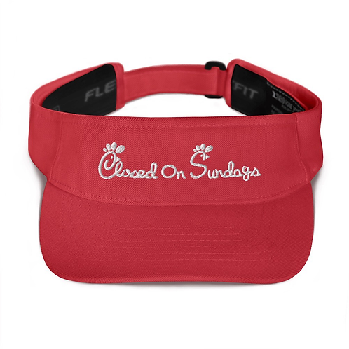 Closed On Sundays Visor