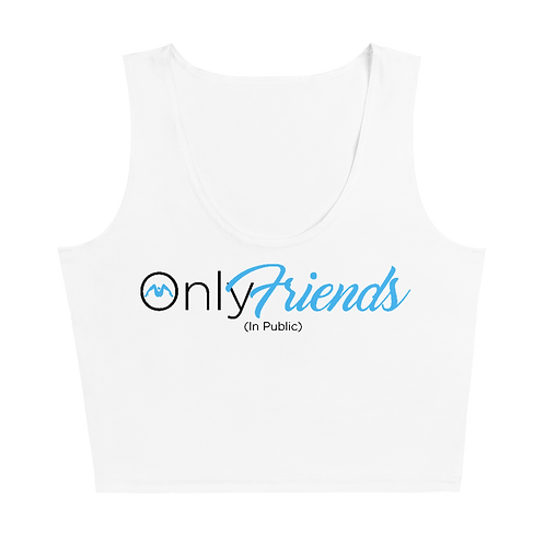Only Friends (In Public) Sleeveless Crop Top