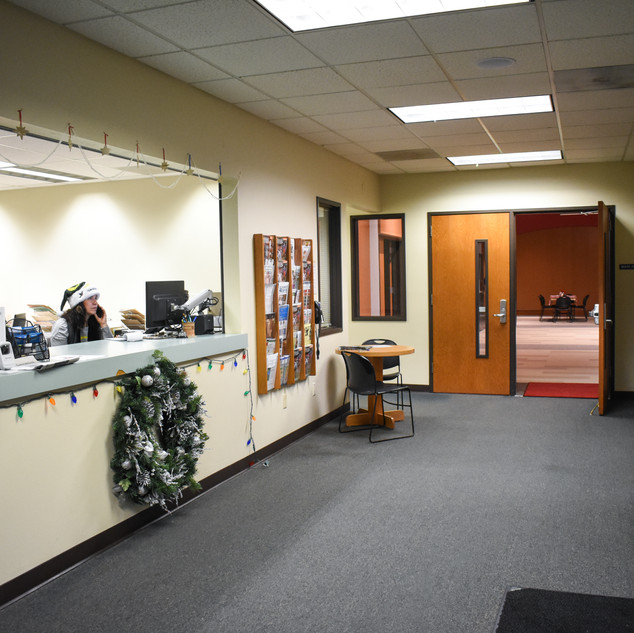 Front Desk & Entrance to Main Hall
