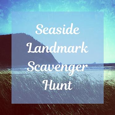 Seaside Landmark Scavenger Hunt Graphic.