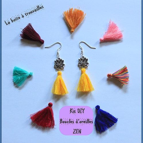"""Kit DIY """"Boucles d'oreille """"ZEN"""" couleur au choix"""