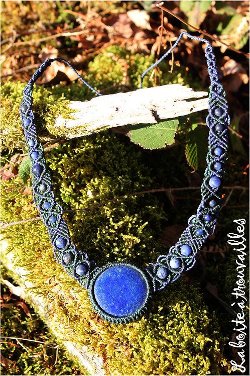 """Collier """"Univers"""" Lapis Lazuli et Sodalite"""