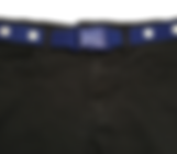 Maxi Buckle Belt Blue White - Front - Ha