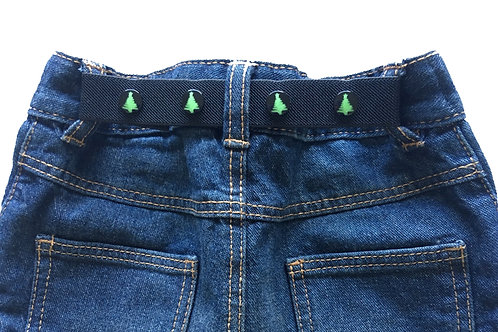 Mini Belts - Festive Fun Belts - Black/Green Christmas Tree