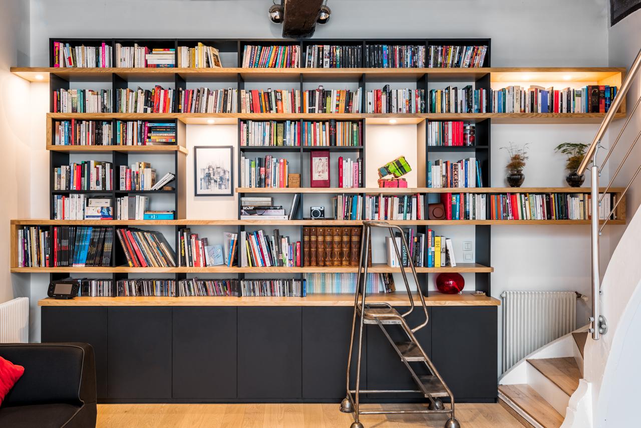Bibliothèque chêne