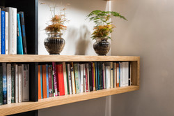 Bibliothèque chêne et noir extra mat