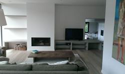 Meubles TV chêne grisé sur mesure