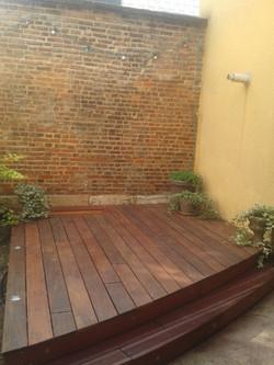 Terrasse ipé/jatoba cintrée