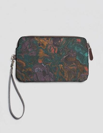 Jewels, Leather Clutch W/Strap